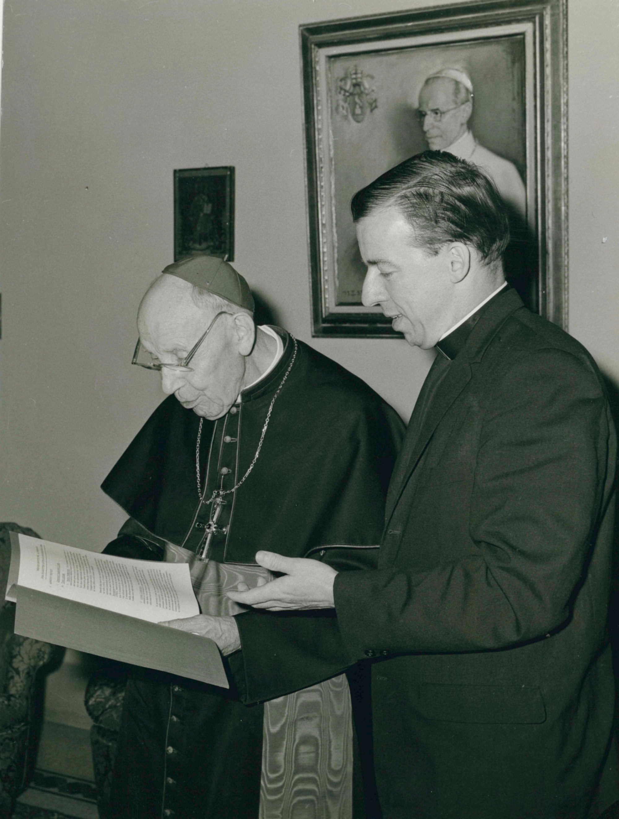 Cardinal Augustin Bea and Fr. Walter Abbot SJ